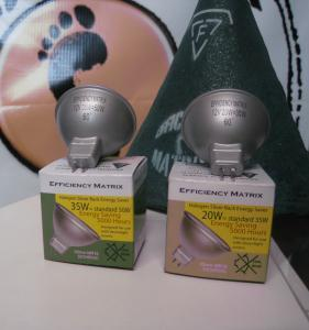 20W and 35W Silver Backed Lamps