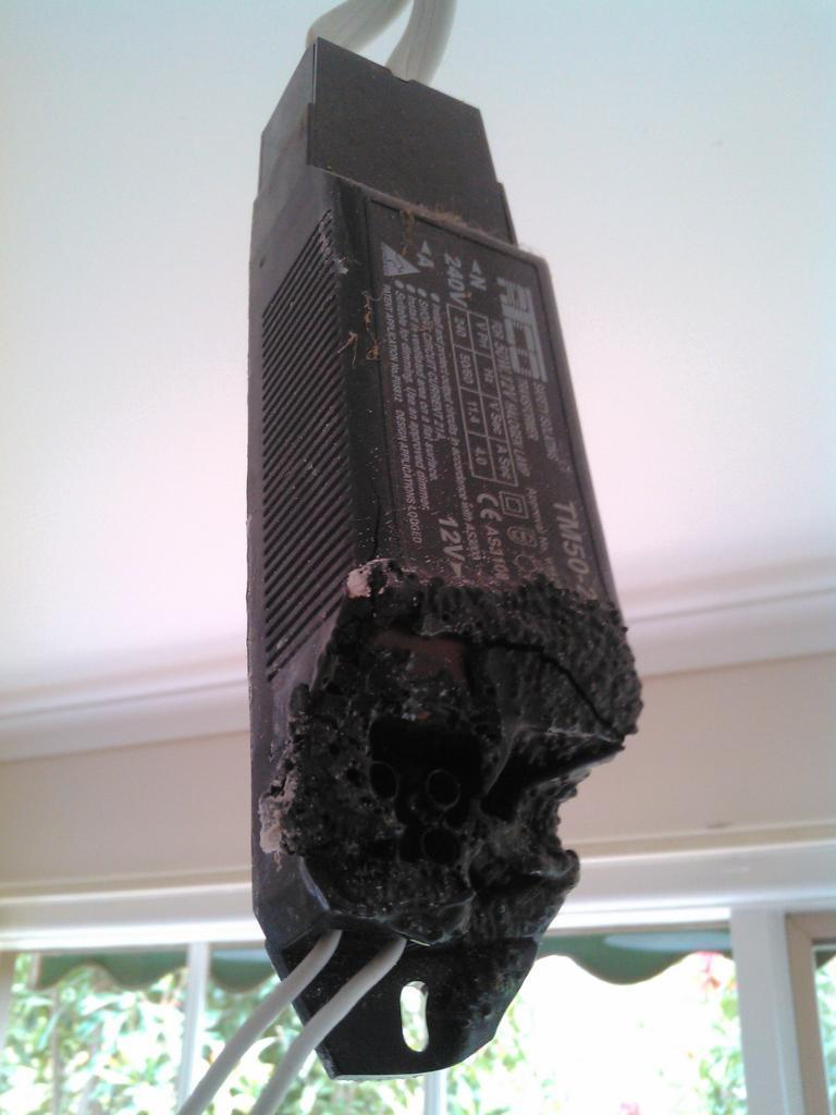 Burned Iron core transformer