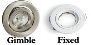 Gimble vs fixed Downlights