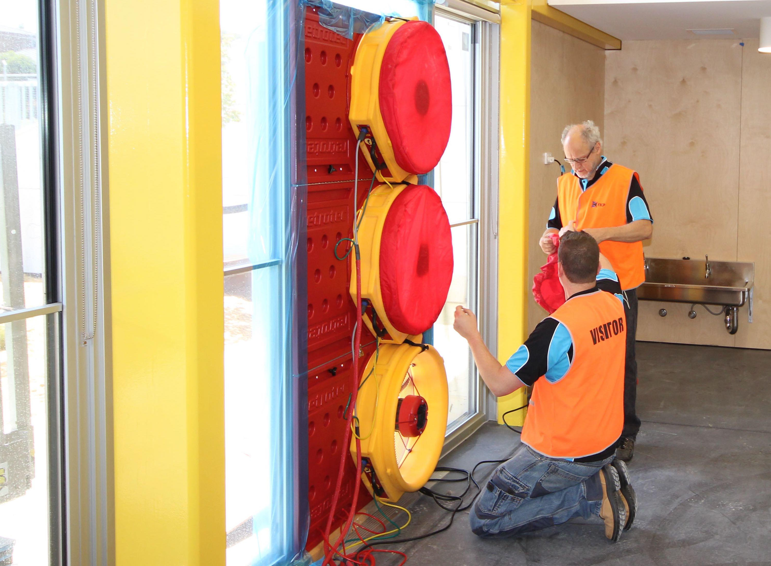 Commercial Blower Door testing