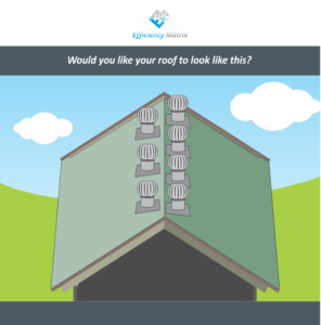 Would you like your roof to look like this? Whirlybirds