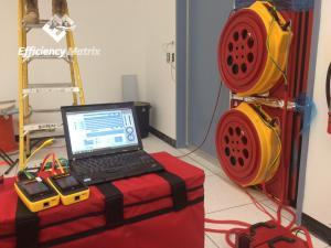 Dual Fan Blower Door test