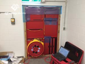 Single fan blower door test