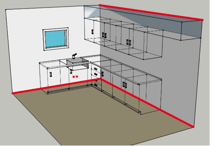 Leakage point to seal in a kitchen