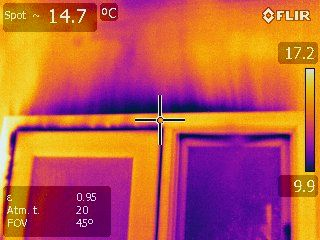 Thermal imaging of air leakage using blower door testing