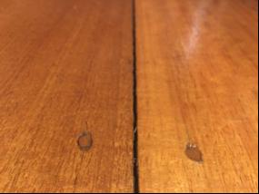 Crack in floor boards