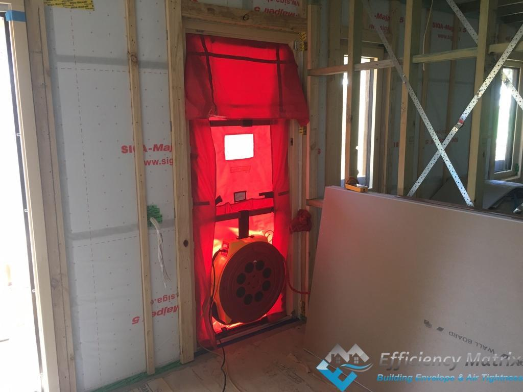 Passive House Blower Door Setup