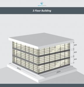 3 floor building