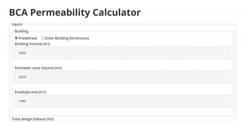 BCA Permeability calc screenshot
