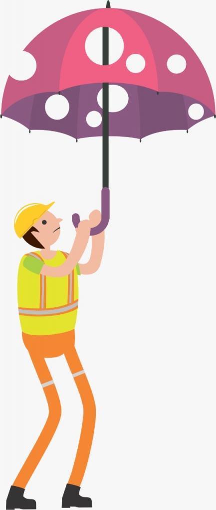 Holey umbrella construction